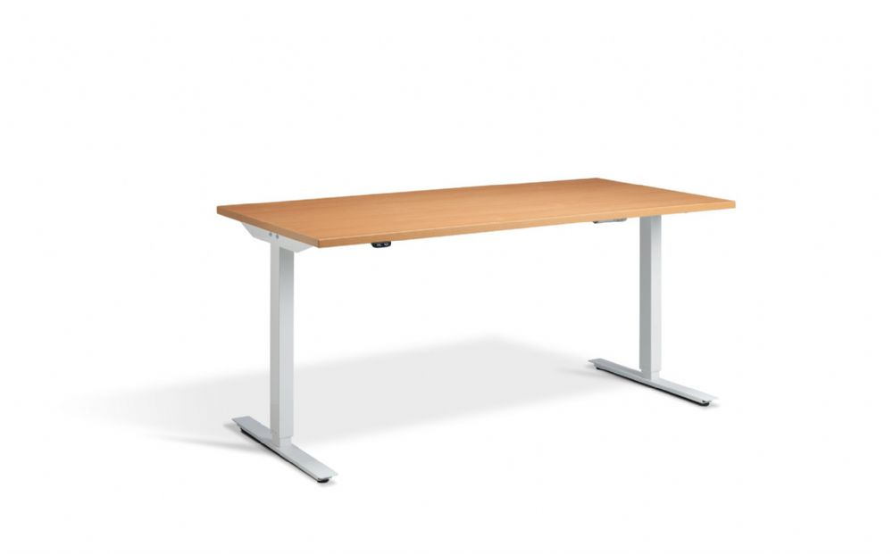 1400mm Angeo-Jack Wide Electric Sit-Stand Height Adjustable Desk with Single Motor System